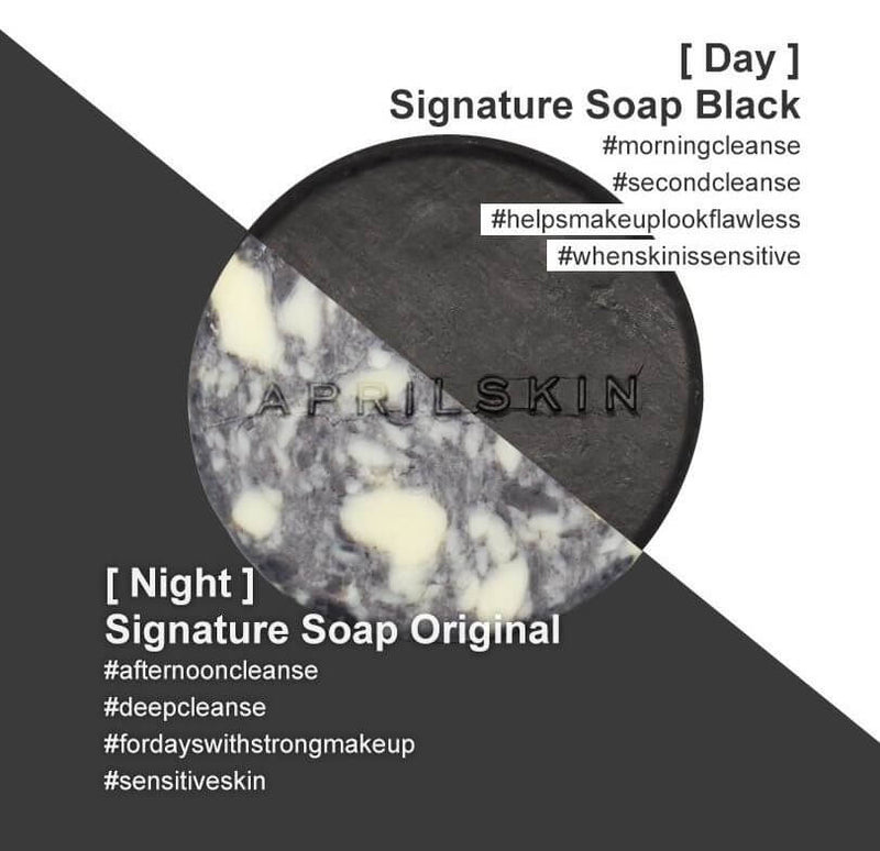 April Skin Signature Soap Original Black Difference Best Korean Beauty Skincare at Nudie Glow in Australia