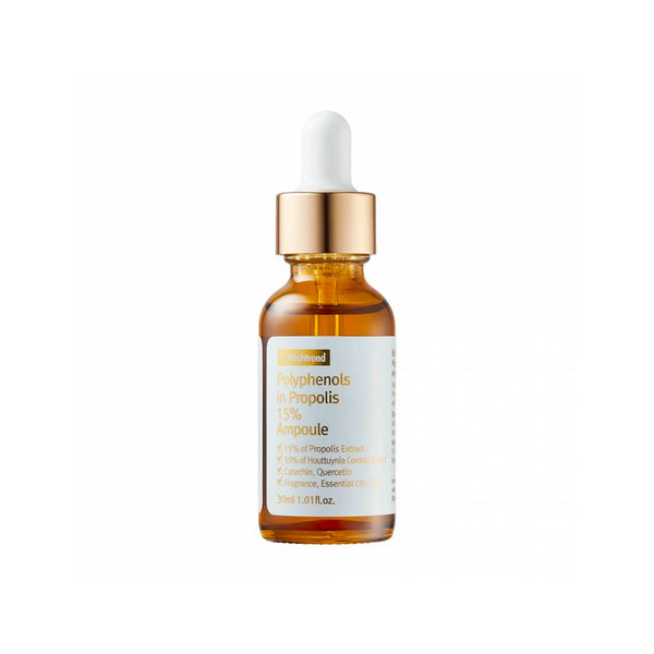 BY WISHTREND Polyphenol in Propolis 15% Ampoule Nudie Glow Korean Skin Care for Acne Australia