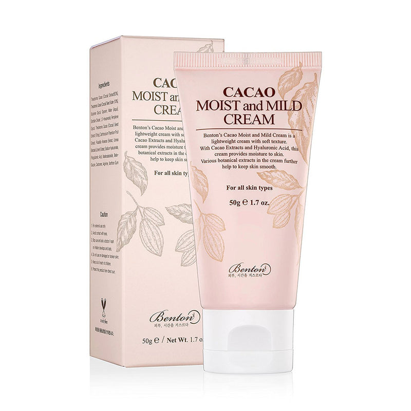 Benton Cacao Moist and Mild Cream Best Korean beauty curated by Nudie Glow in Australia