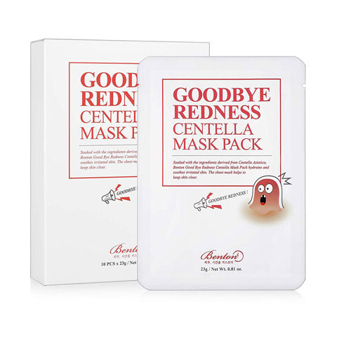 Benton Goodbye Redness Centella Mask Pack Nudie Glow Korean Skin Care Australia