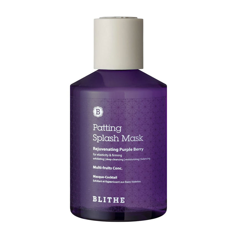 Blithe Patting Splash Mask Rejuvenating Purple Berry Nudie Glow Korean Skin Care Australia