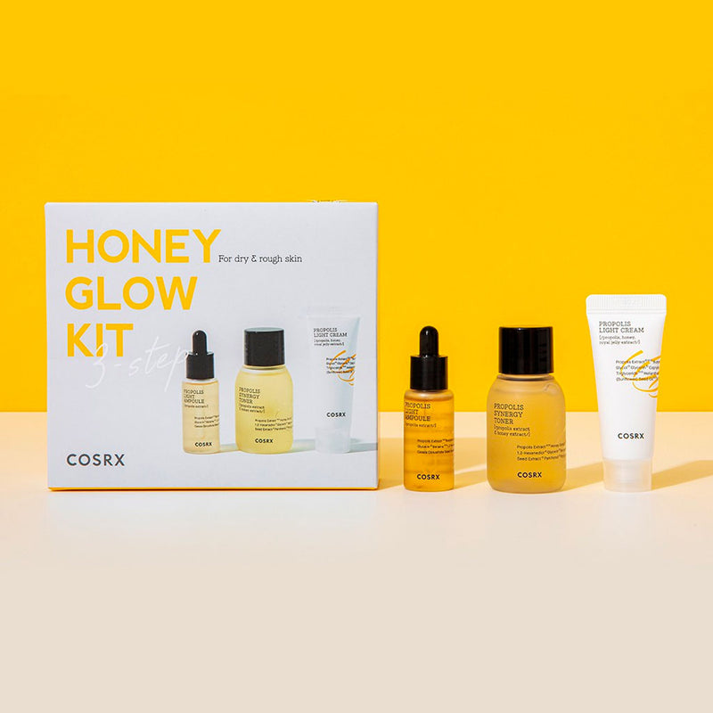COSRX Honey Glow Kit 3 Step Nudie Glow Korean Skin Care Australia