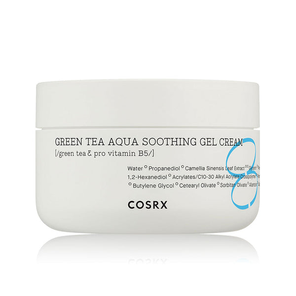 COSRX Hydrium Green Tea Aqua Soothing Gel Cream Nudie Glow Korean Skin Care Australia