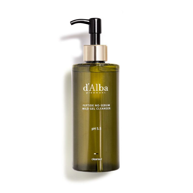 D'Alba Piedmont Peptide No-Sebum Mild Gel Cleanser Nudie Glow Korean Beauty Skin Care Australia