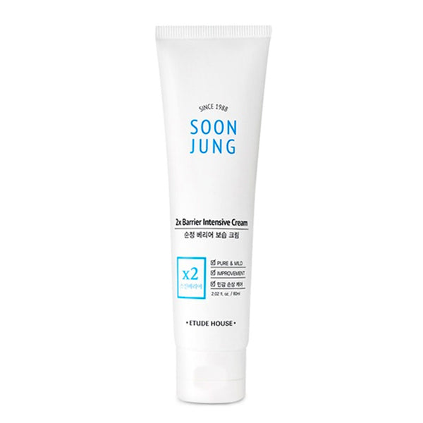 Etude House Soon Jung 2x Barrier Intensive Cream Nudie Glow Korean Skin Care Australia