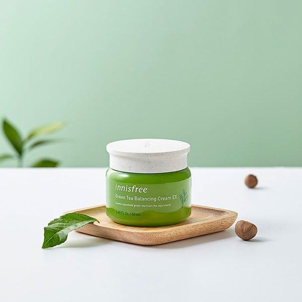 INNISFREE Green Tea Balancing Cream Nudie Glow Korean Beauty Skincare Australia