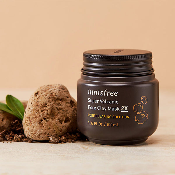 INNISFREE Super Volcanic Pore Clay Mask 2x Nudie glow Korean Skin Care Australia