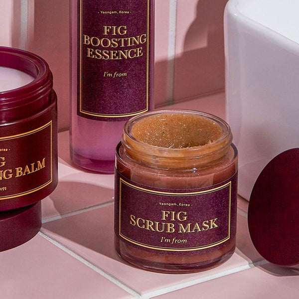 I'M FROM Fig Scrub Mask Nudie Glow Korean Skin Care Australia
