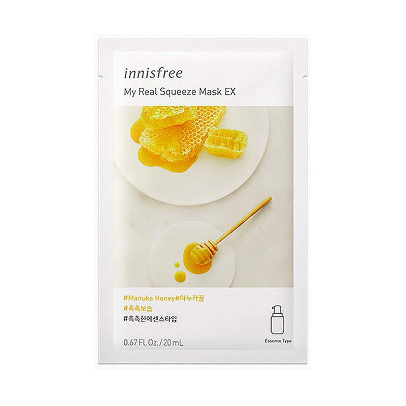 Innisfree My Real Squeeze Sheet Mask Manuka Honey at Nudie Glow Best Korean Beauty Australia