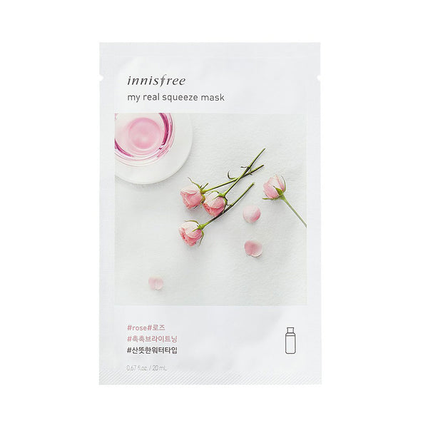 Innisfree My Real Squeeze Mask Rose Nudie Glow Korean Skin Care Australia