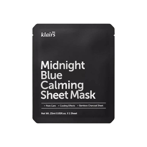Klairs Midnight Blue Calming Sheet Mask Nudie Glow Korean Beauty Skincare Australia