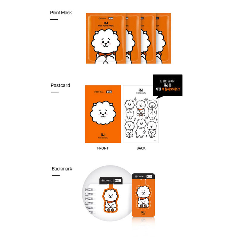 Mediheal BT21 RJ Face Point Mask (BTS Jin) Nudie Glow Korean Skin Care Australia