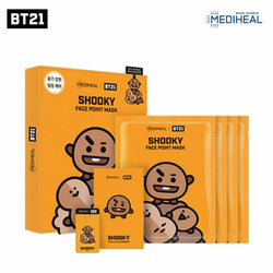 Mediheal BT21 SHOOKY Face Point Mask (BTS Suga) Nudie Glow Korean Skin Care Australia