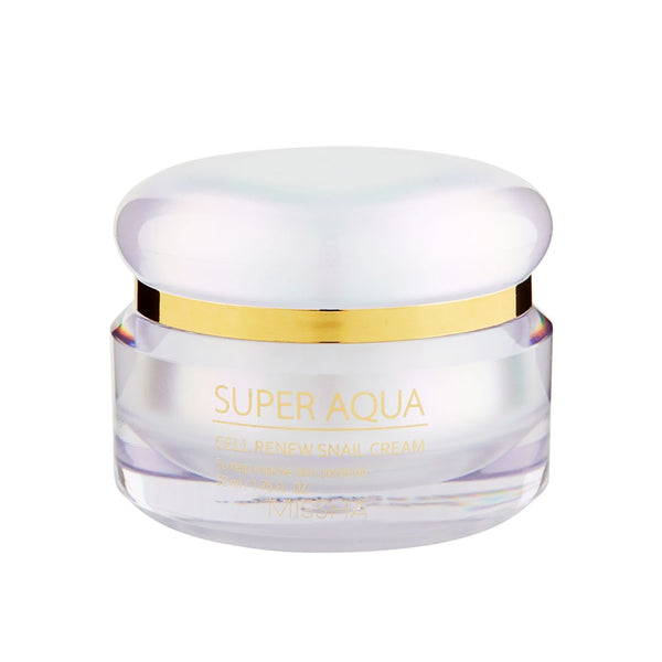 Missha Super Aqua Cell Renew Snail Cream Nudie Glow Korean Beauty Australia
