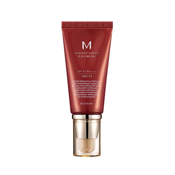 Missha M Perfect Cover BB Cream No.13 [Bright Beige] Nudie Glow Korean Skin Care Australia