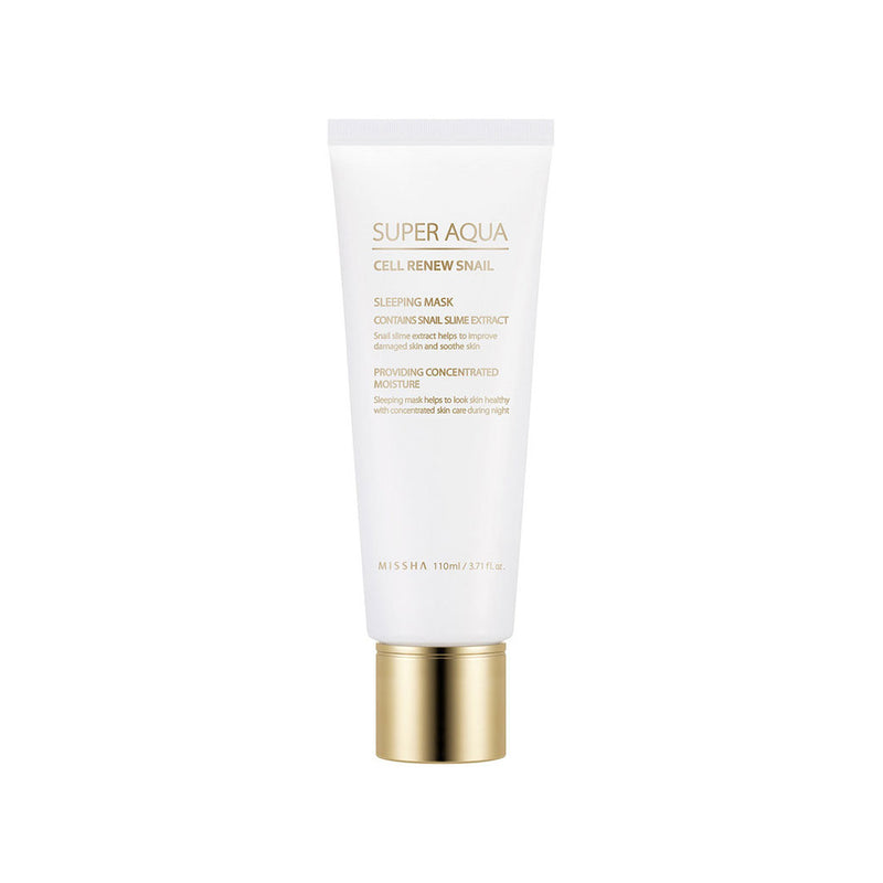 Missha Super Aqua Cell Renew Snail Sleeping Mask Nudie Glow Korean Skin Care Australia