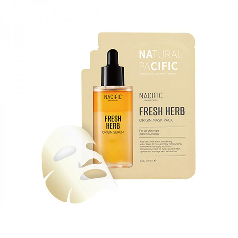 Nacific Fresh Herb Origins Mask Pack Nudie Glow Korean Skin Care Australia