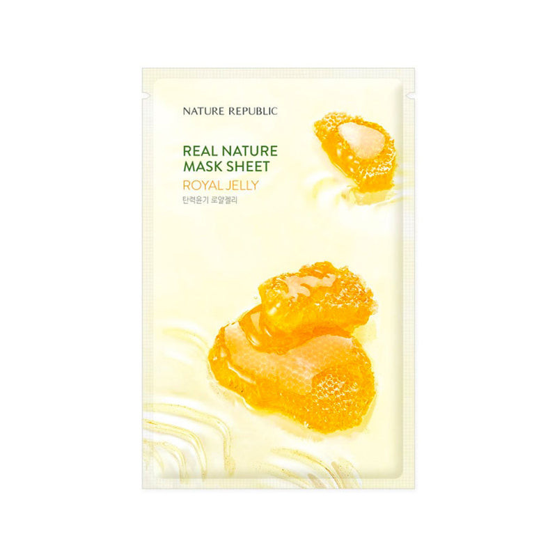 Nature Republic Real Nature Mask Sheet Royal Jelly Nudie Glow Korean Sheet Mask Australia