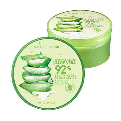 Nature Republic Aloe Vera 92 Soothing Gel at Nudie Glow Korean Beauty Australia