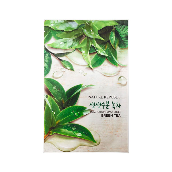 Nature Republic Real Nature Mask Sheet Green Tea Nudie Glow Best Korean Beauty Store Australia