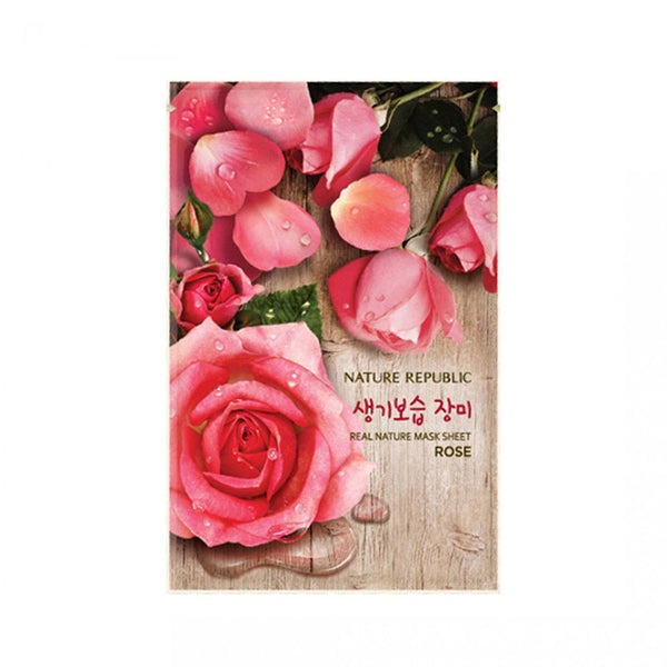 Nature Republic Real Nature Mask Sheet Rose Nudie Glow Best Korean Beauty Store Australia
