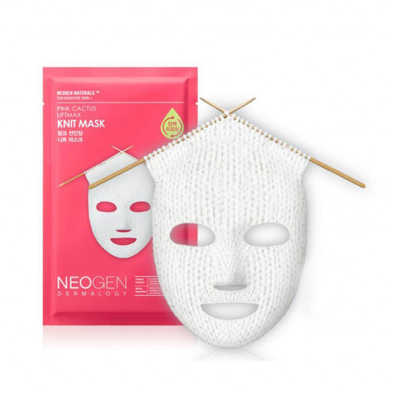 Neogen Pink Cactus Liftmax Knit Mask Nudie Glow Korean Skin Care Australia