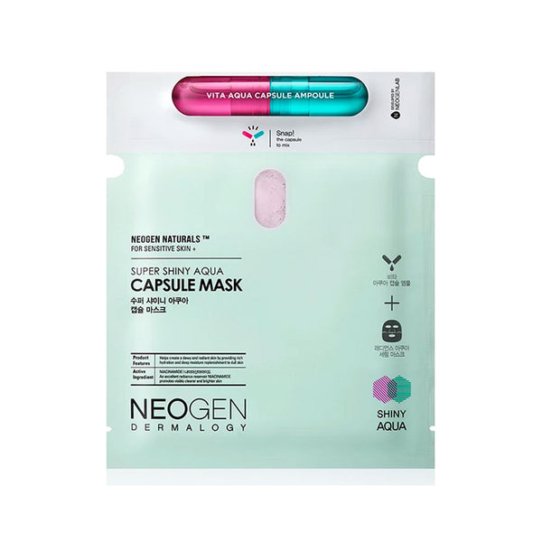 NEOGEN Super Shiny Aqua Capsule Mask Nudie Glow Korean Skin Care Australia