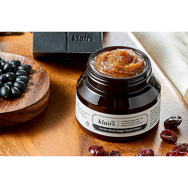 Nudie Glow Dear Klairs Gentle Black Sugar Facial Polish Korean Beauty Skincare Australia