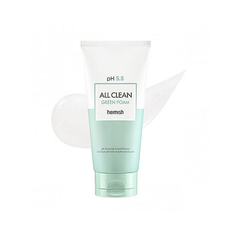 HEIMISH All Clean Green Foam pH 5.5 Cleanser Nudie Glow Best Korean Beauty Australia