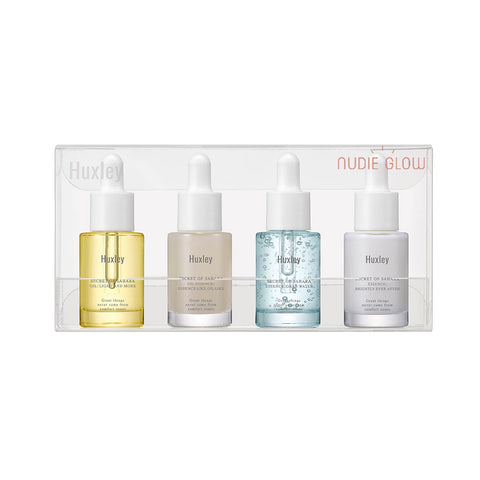 HUXLEY oil essence sample size travel set Korean beauty Nudie Glow Australia