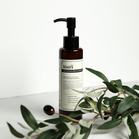 KLAIRS Gentle Black Deep Cleansing Oil at Nudie Glow Korean Beauty Australia