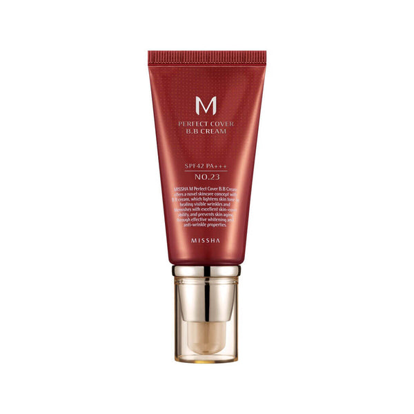 Nudie Glow MISSHA M Perfect Cover BB Cream No.23 [Natural Beige] Korean Beauty Skincare Australia