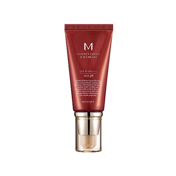 Nudie Glow MISSHA M Perfect Cover BB Cream No.27 [Honey Beige] Korean Beauty Skincare Australia