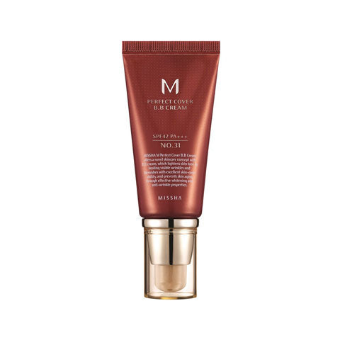 Missha M Perfect Cover BB Cream 31 Golden Beige Best Korean Beauty Nudie Glow Australia