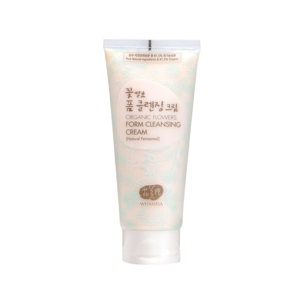 WHAMISA Organic Flowers Creamy Foam Cleanser best Korean beauty Nudie Glow Australia