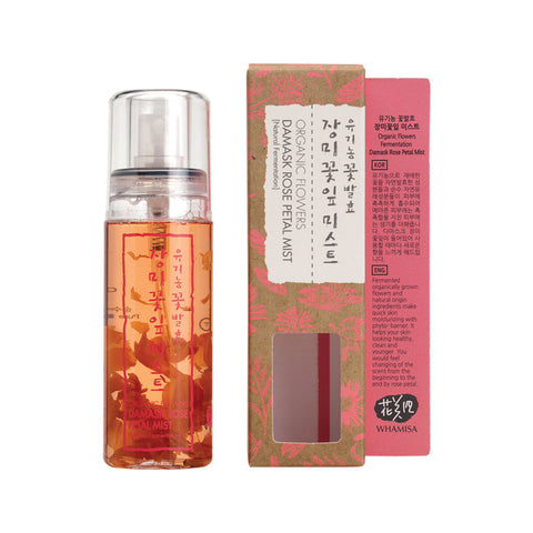 WHAMISA Organic Flowers Damask Rose Petal Mist toner best Korean beauty Nudie Glow Australia