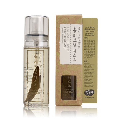 WHAMISA Organic Flowers Olive Leaf Mist toner best Korean beauty Nudie Glow Australia