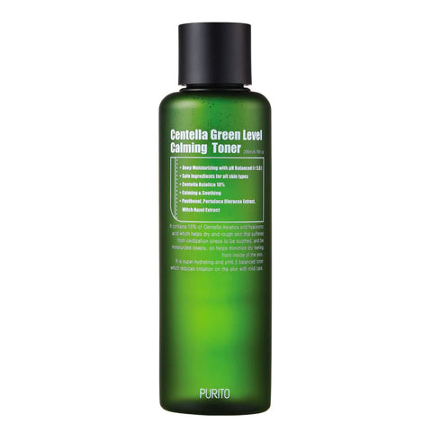 Purito Centella Green Level Calming Toner Nudie Glow Korean Skin Care Australia