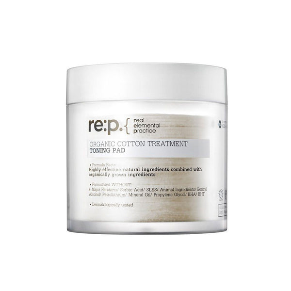 RE:P Organic Cotton Treatment Toning Pads Nudie Glow Korean Skin Care Australia