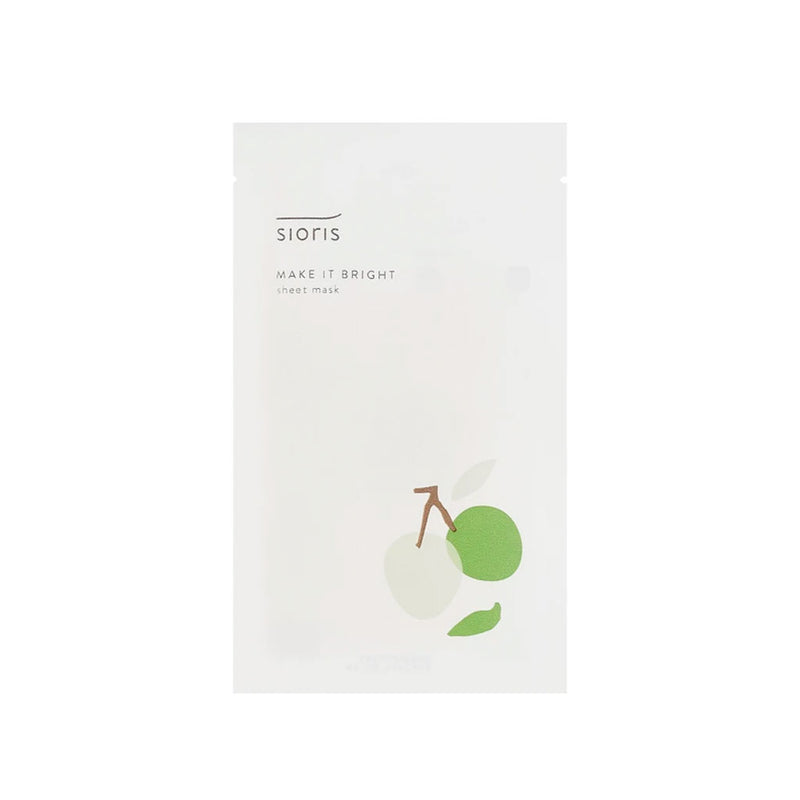 Sioris Make It Bright Sheet Mask Nudie Glow Korean Skin Care Australia