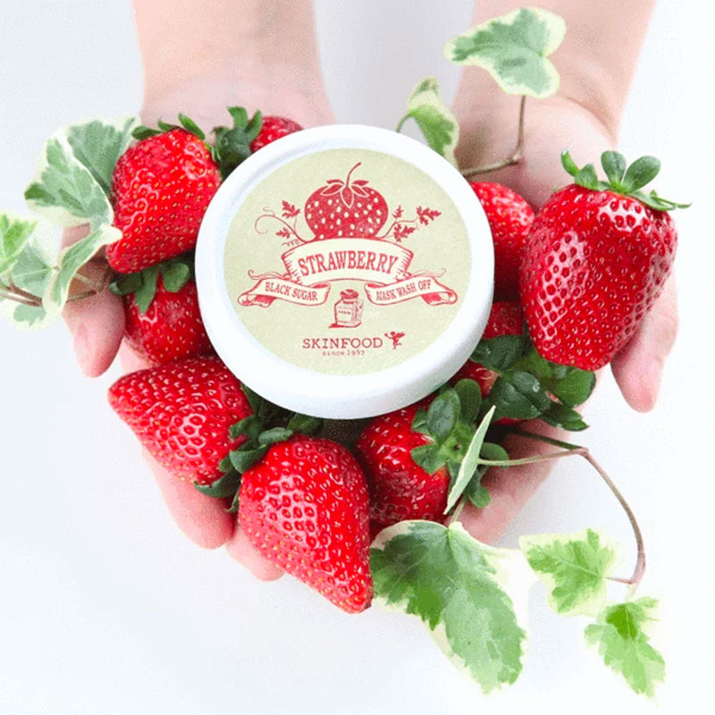 SKINFOOD Black Sugar Strawberry Mask Wash Off Nudie Glow Korean Skin Care Australia