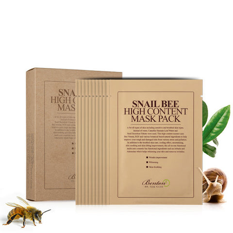Benton Snail Bee High Content Mask Pack Nudie Glow Korean Beauty Australia