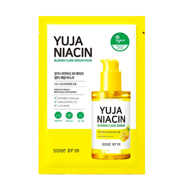 Some By Mi Yuja Niacin 30 Days Blemish Care Serum Mask Nudie Glow Korean Skin Care Australia