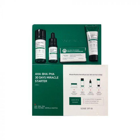 SOMEBYMI AHA BHA PHA 30 Days Miracle Starter Kit Best Korean Beauty Skincare at Nudie Glow in Australia