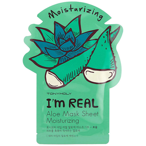 TONY MOLY I'm Real Aloe Mask Sheet Nudie Glow Korean Skin Care Australia