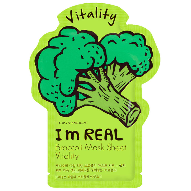 TONY MOLY I'm Real Broccoli Mask Sheet Nudie Glow Korean Skin Care Australia