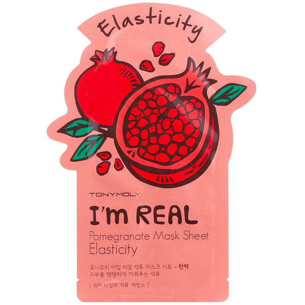 TONY MOLY I'm Real Pomegranate Mask Sheet Nudie Glow Korean Skin Care Australia