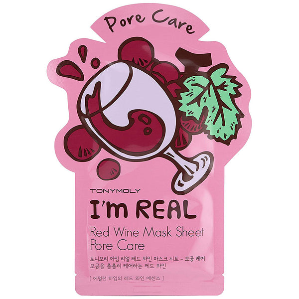 TONY MOLY I'm Real Red Wine Mask Sheet Nudie Glow Korean Skin Care Australia