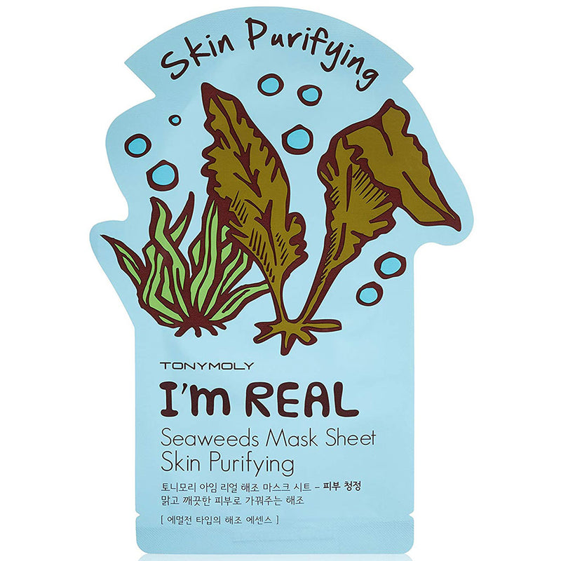 TONY MOLY I'm Real Seaweeds Mask Sheet Nudie Glow Korean Skin Care Australia