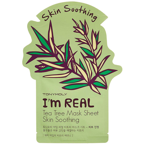 TONY MOLY I'm Real Tea Tree Mask Sheet Nudie Glow Korean Skin Care Australia